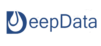 This image shows DeepData Logo where the letter D has an Oil Drop overlay.